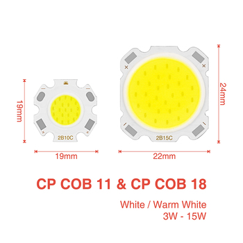 LED, COB (Chip DC9-50V Įvesties 15W 12W 10W 9W 7W 5W 3W,